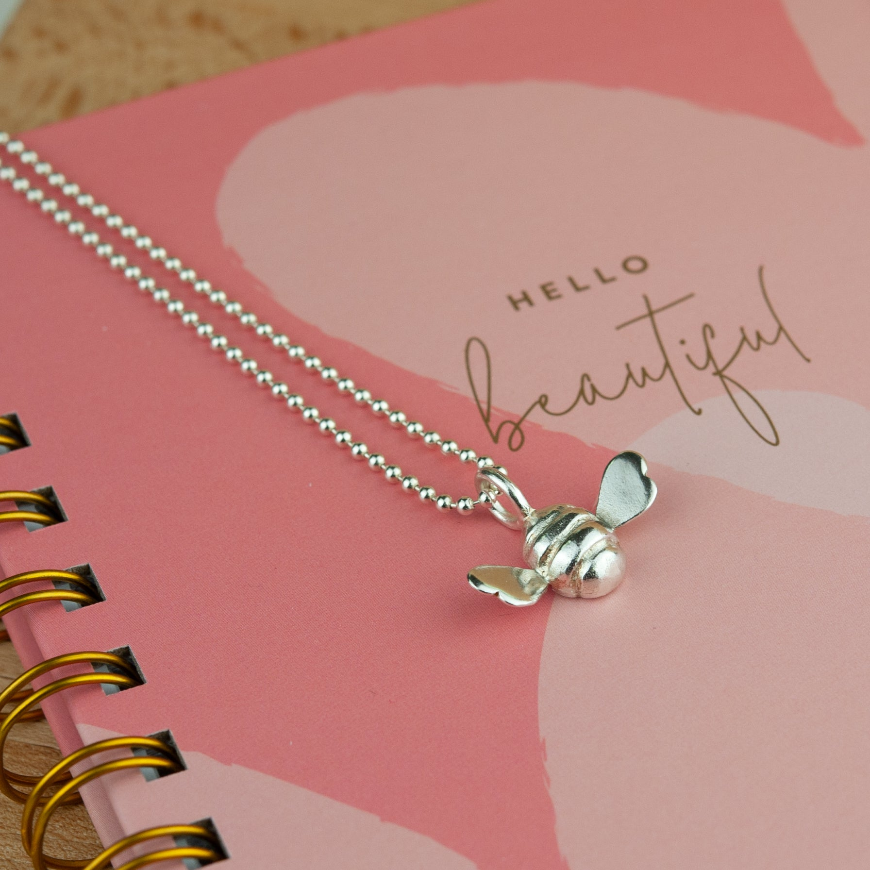 Belle & Bee sterling silver bumble bee necklace