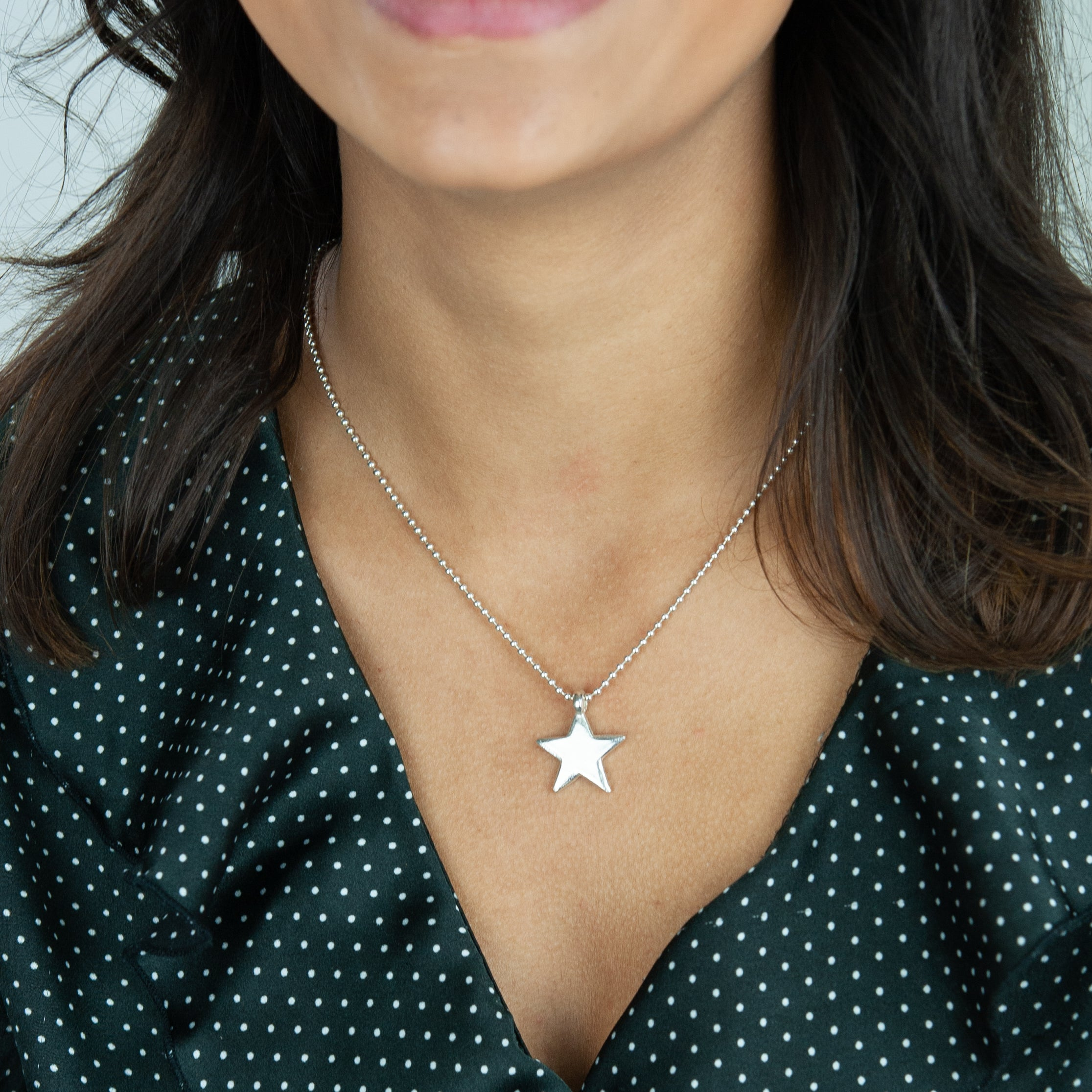 Belle & Bee Sterling Silver Midi Star Necklace