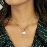 Belle & Bee Sterling Silver Shell charm necklace