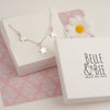 Belle & Bee sterling silver 3 star necklace