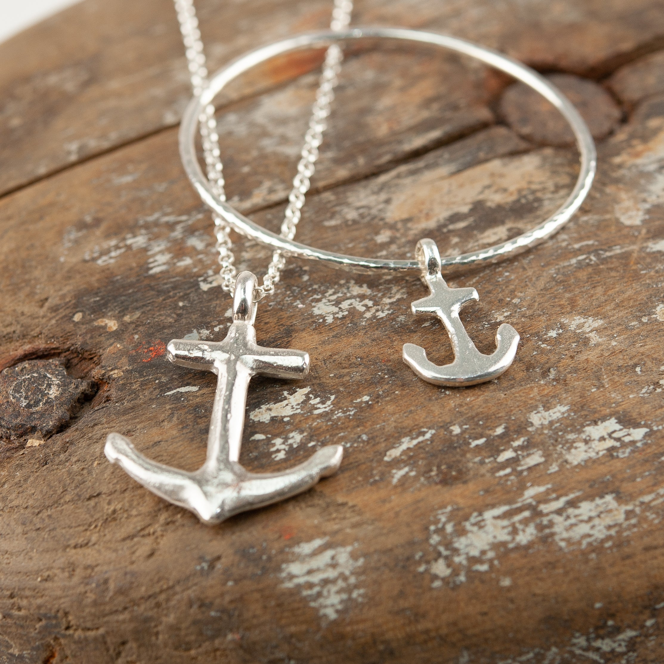 Belle & Bee sterling silver anchor
