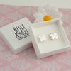 Belle & Bee sterling silver clover earrings