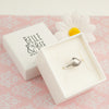 Belle & Bee sterling silver shell ring