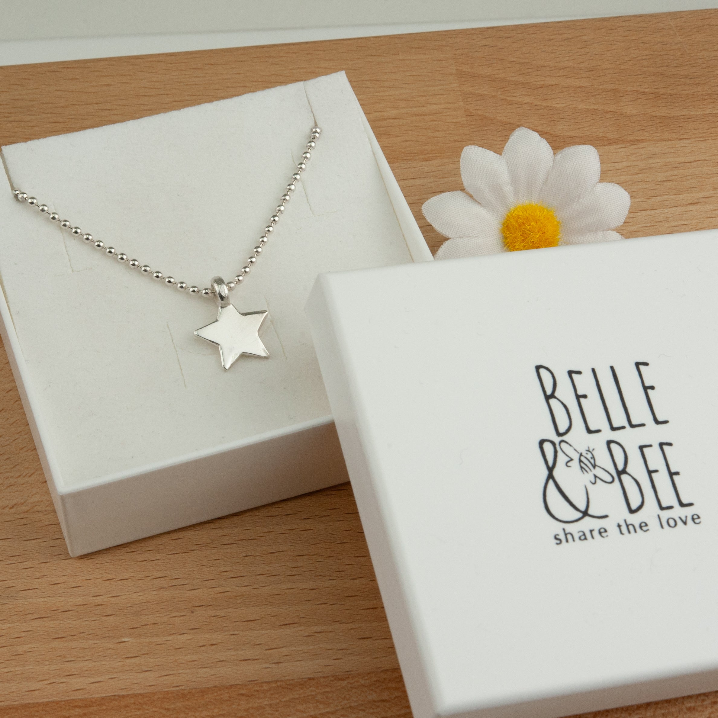 Belle & Bee sterling silver star necklaces