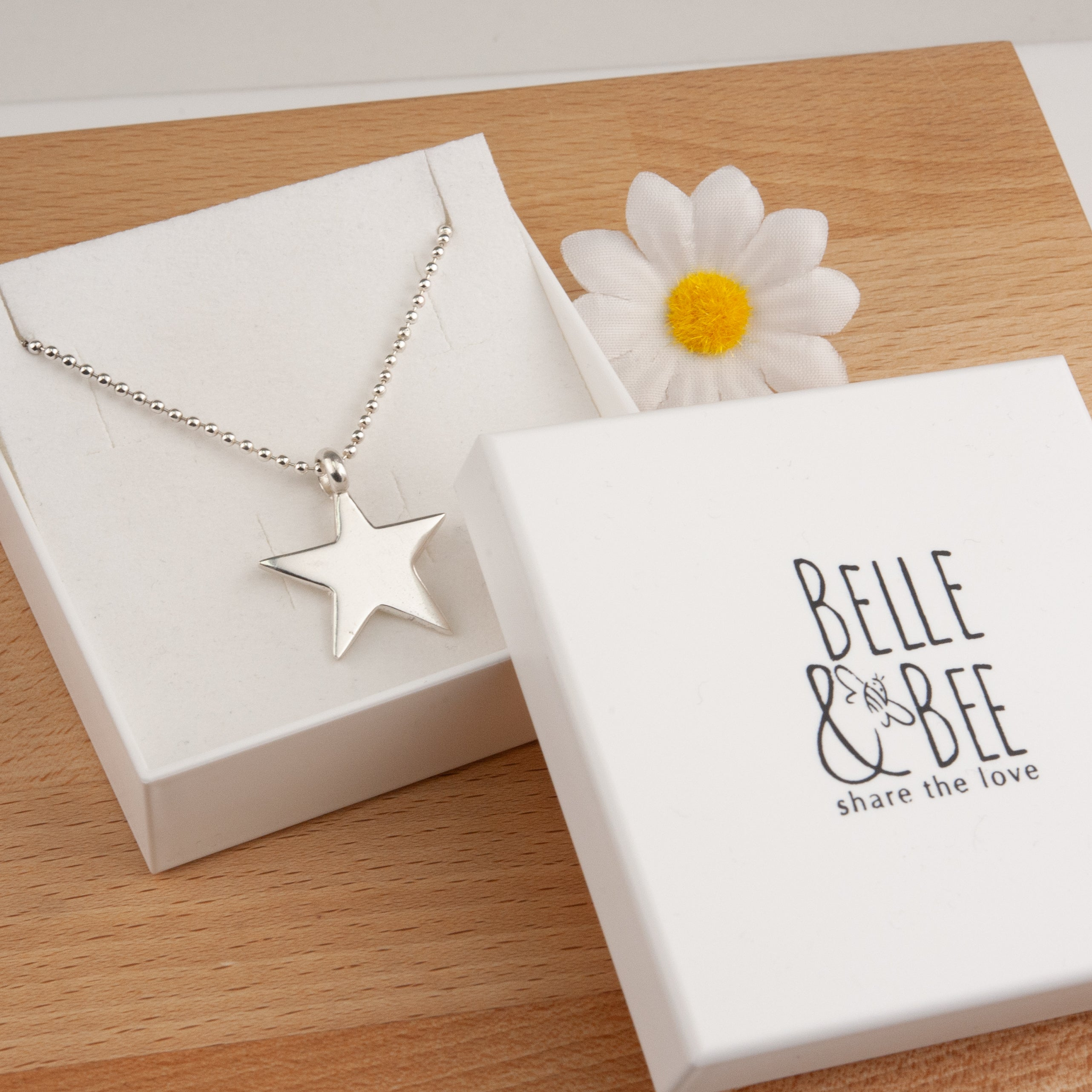 Belle & Bee sterling silver star necklace