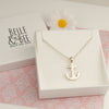 Belle & Bee Sterling silver anchor necklace