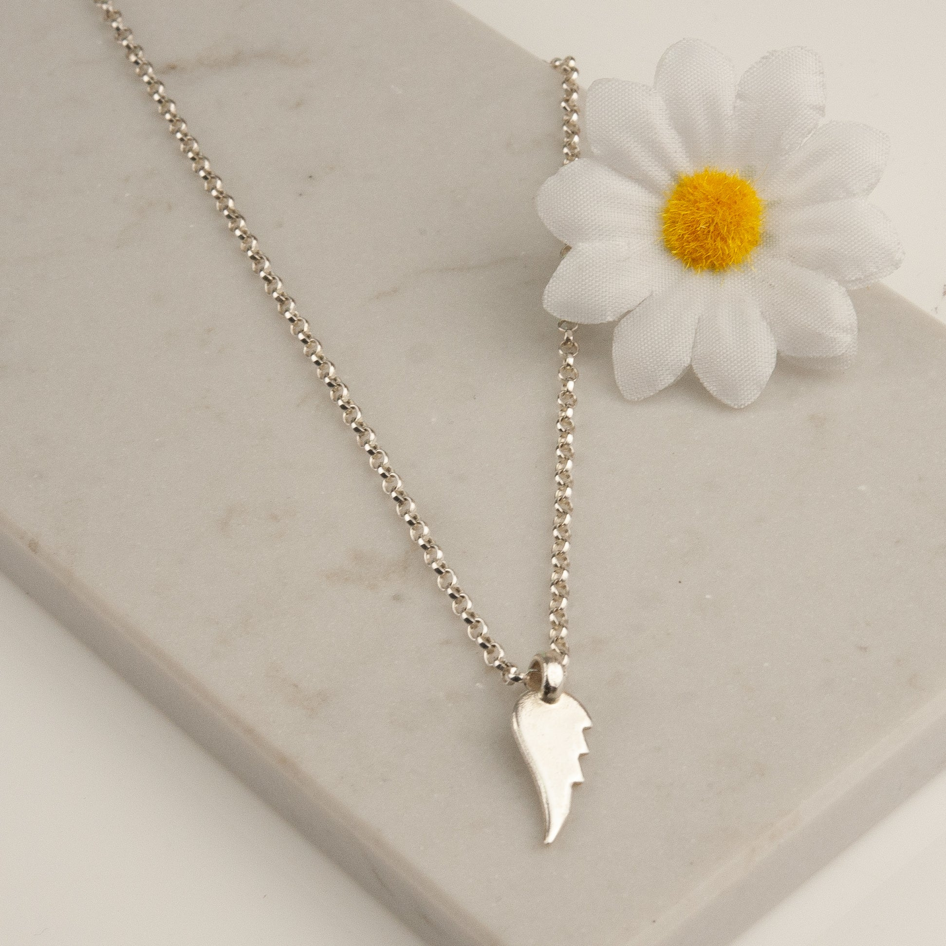 Belle & Bee Sterling Silver angel wing necklace