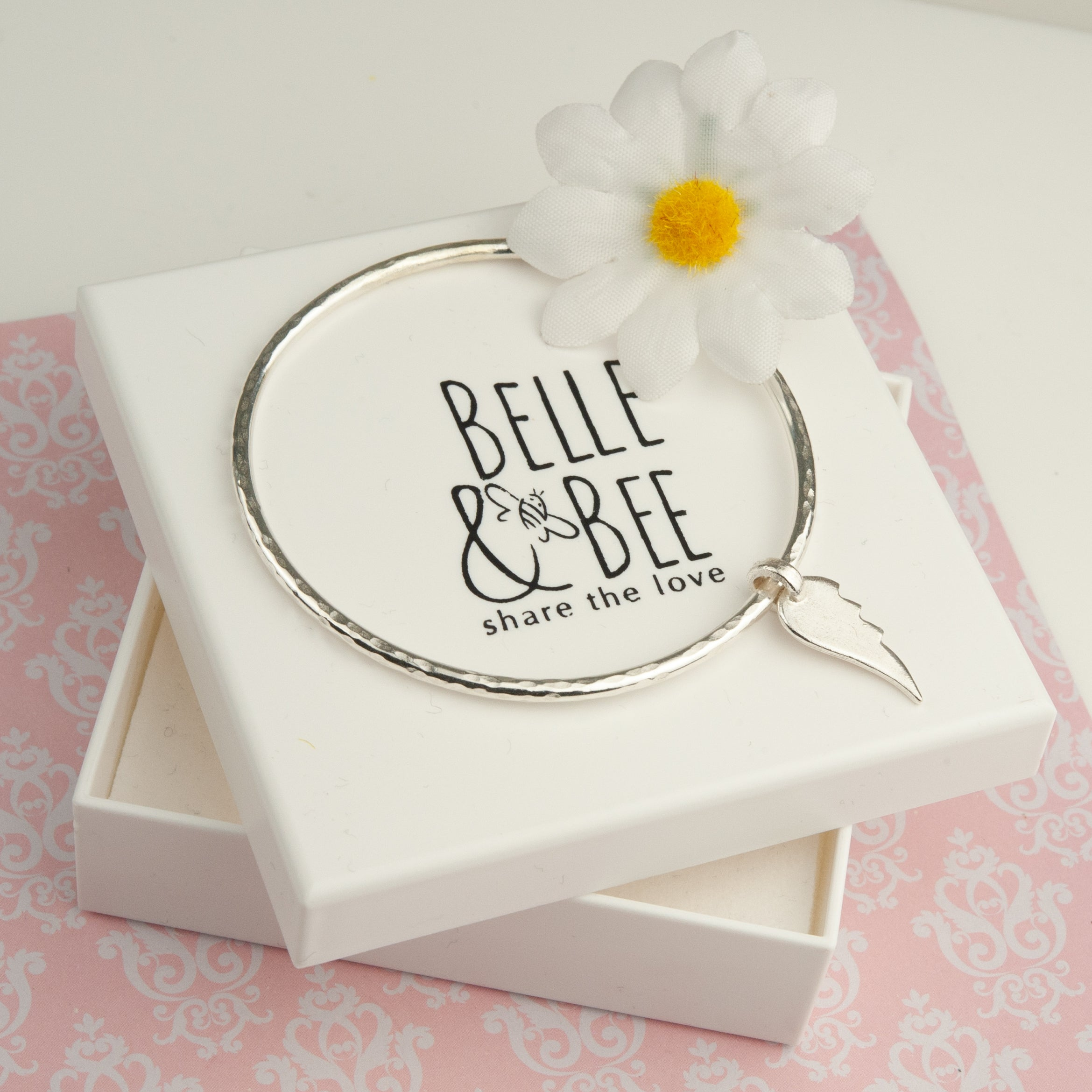Belle & Bee Sterling silve angel wing bangle