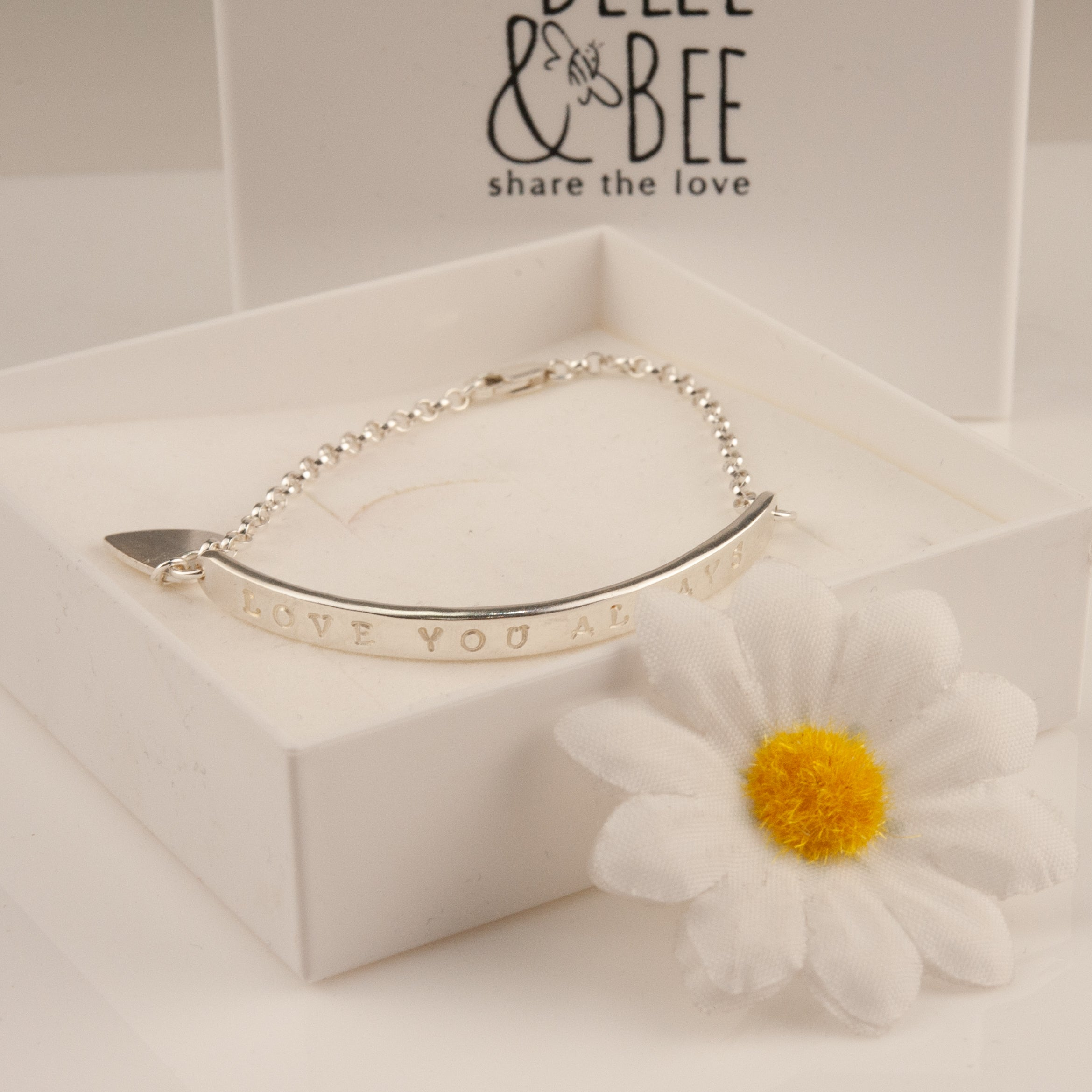 Belle & Bee sterling silver bar bracelet