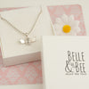 Belle & Bee sterling silver bee necklace