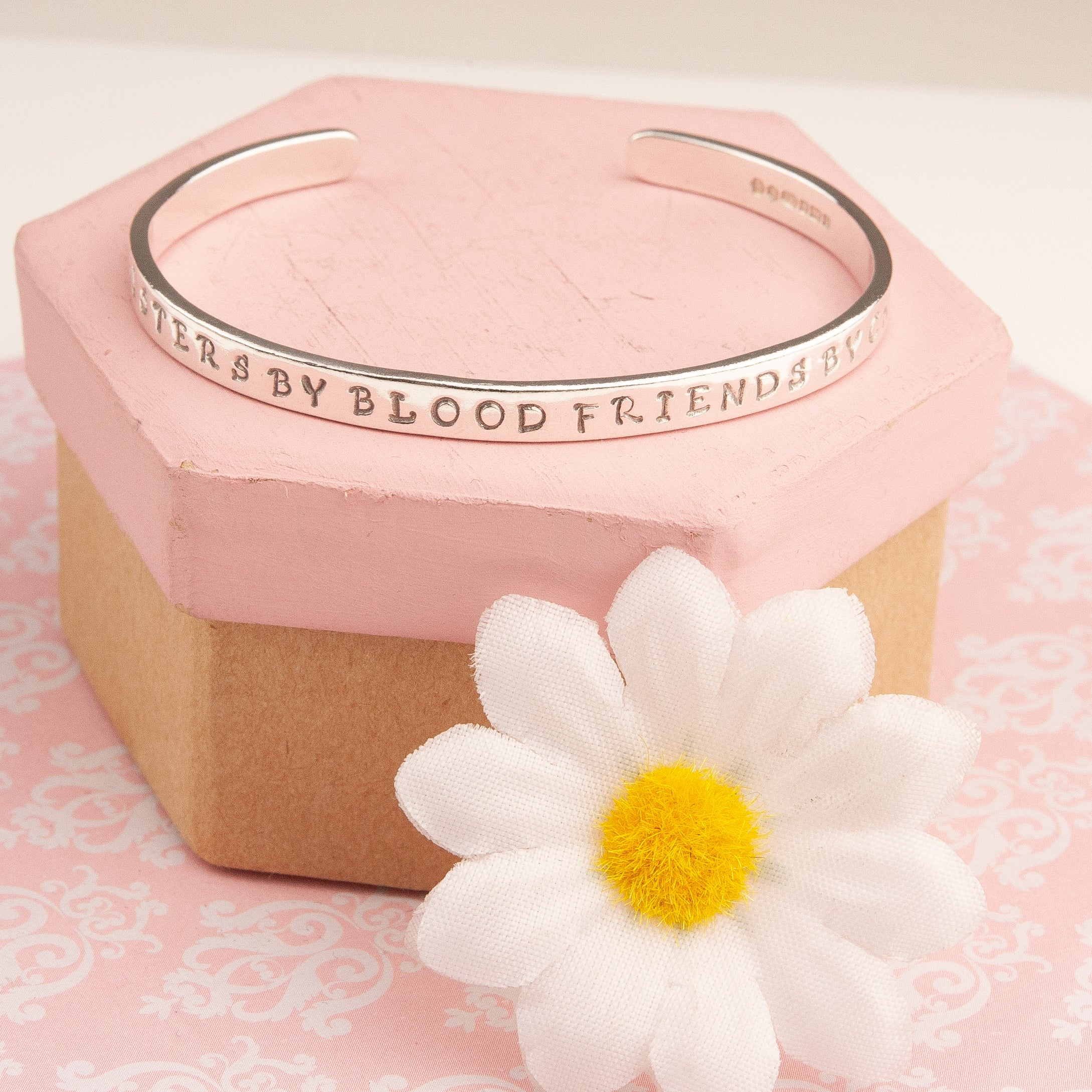 Belle & Bee personalised silver cuff