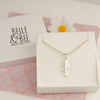 Sterling Silver Ball Chain Necklace with Chunky Feather Charm