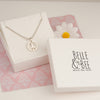 Belle & Bee sterling silver peace sign necklace