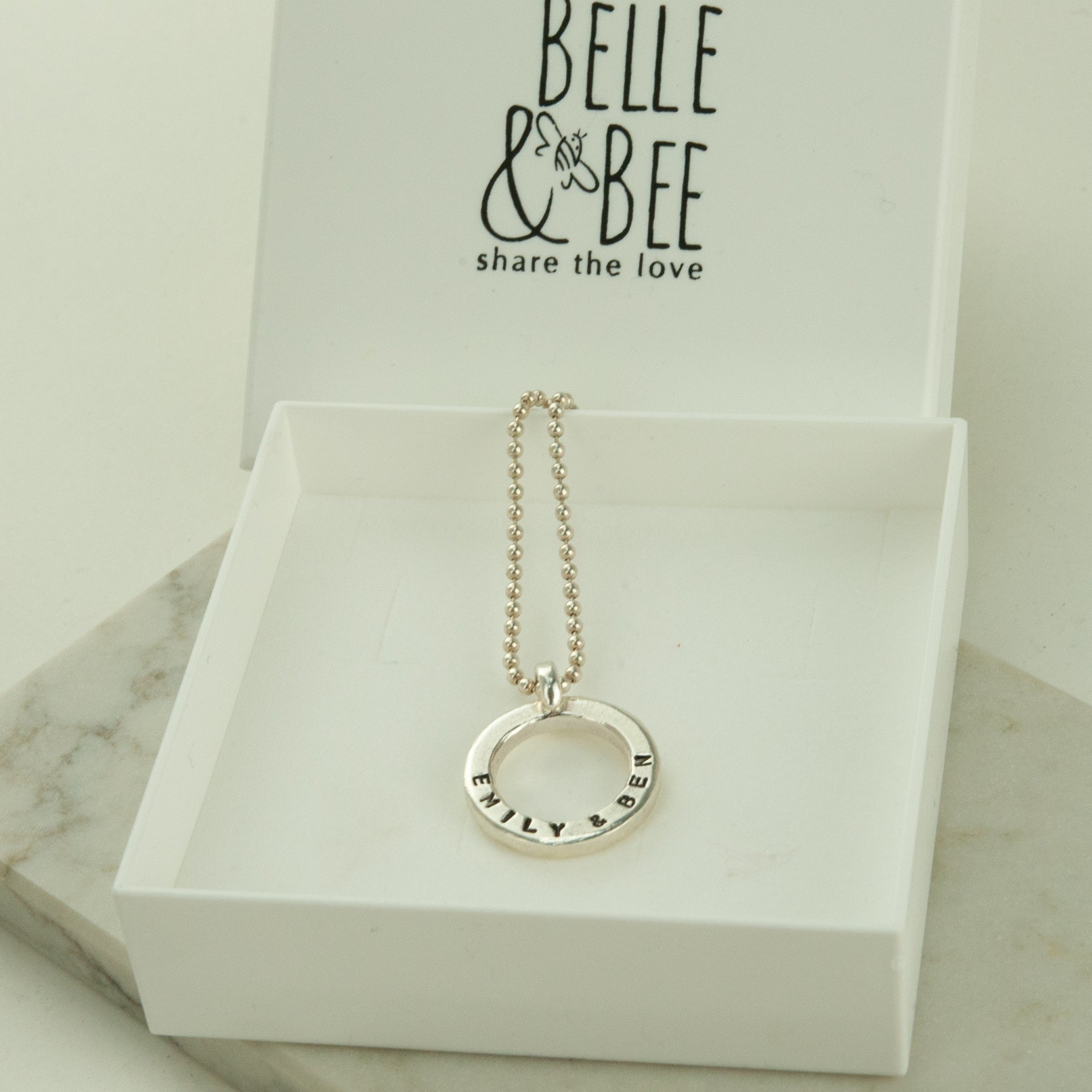 Belle & Bee sterling silver polo necklace