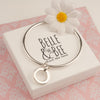 Belle & Bee sterling silver polo charm bangle