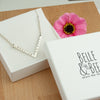 Belle and Bee Personalised Sterling Silver Chevron Necklace