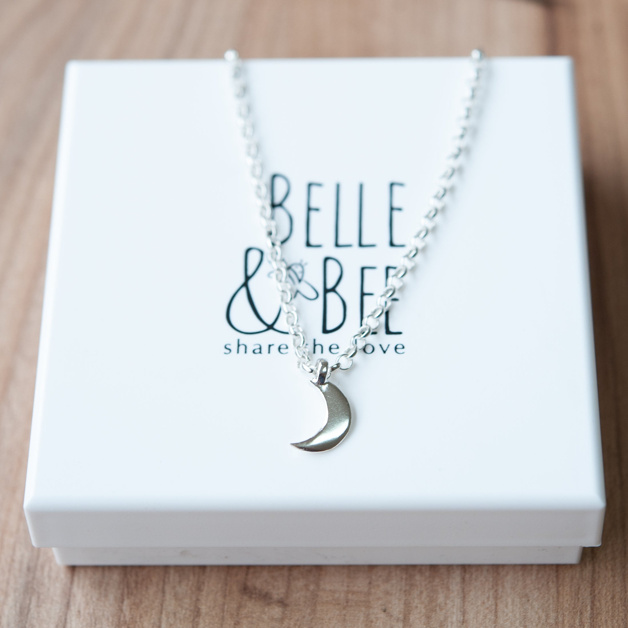 Belle & Bee Mini moon ankle bracelet