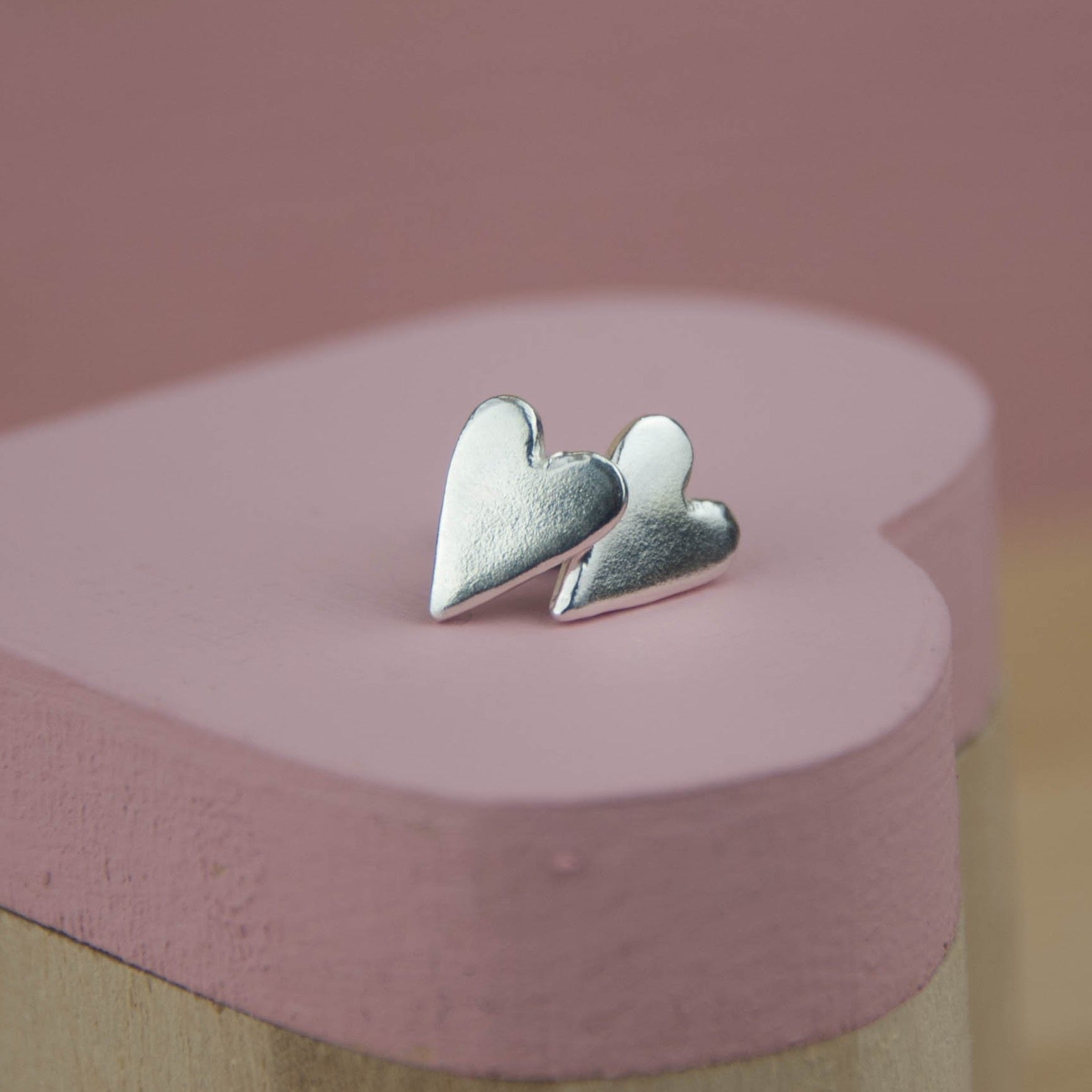 Belle & Bee Chunky Heart Earrings