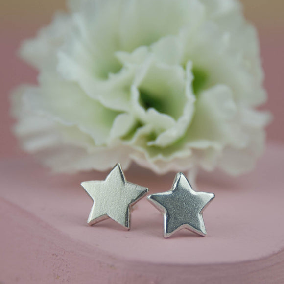Belle & Bee Sterling Silver Chunky star earrings