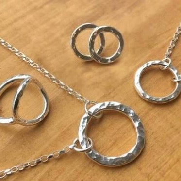 Belle & Bee Sterling Silver Karma Circle Collection