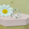 Belle & Bee Sterling Silver Karma Circle Ring