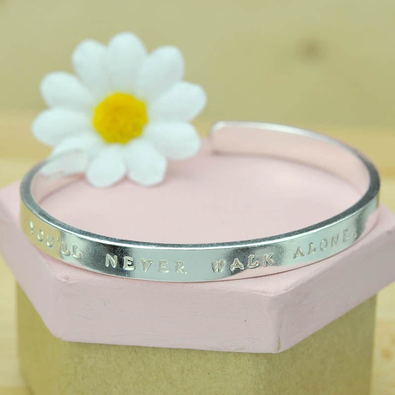 Belle & Bee Extra Chunky Sterling Silver  Personalised Cuff