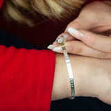 Belle & Bee Sterling Silver message bangle with love loop