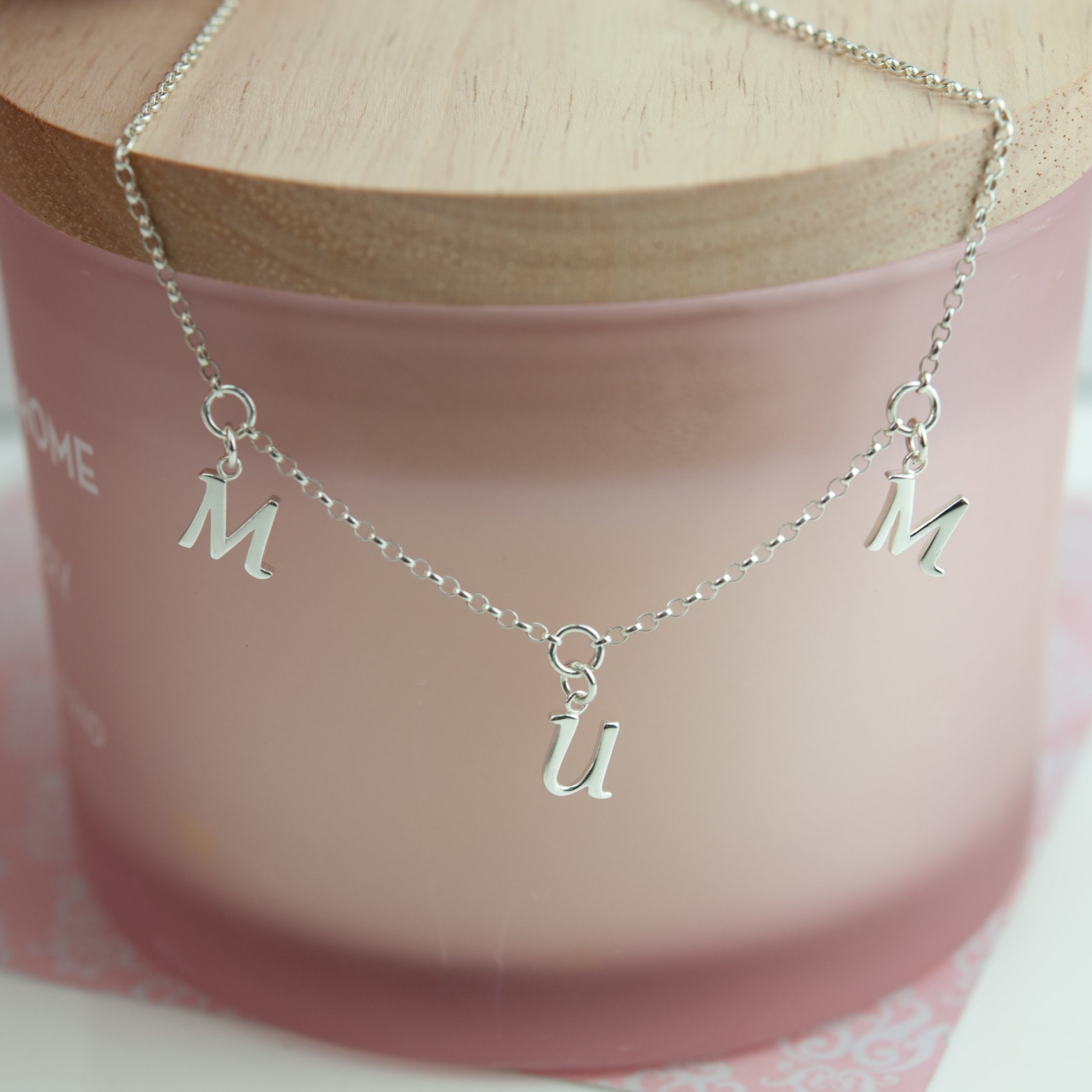 Belle & Bee Sterling silver mum necklace