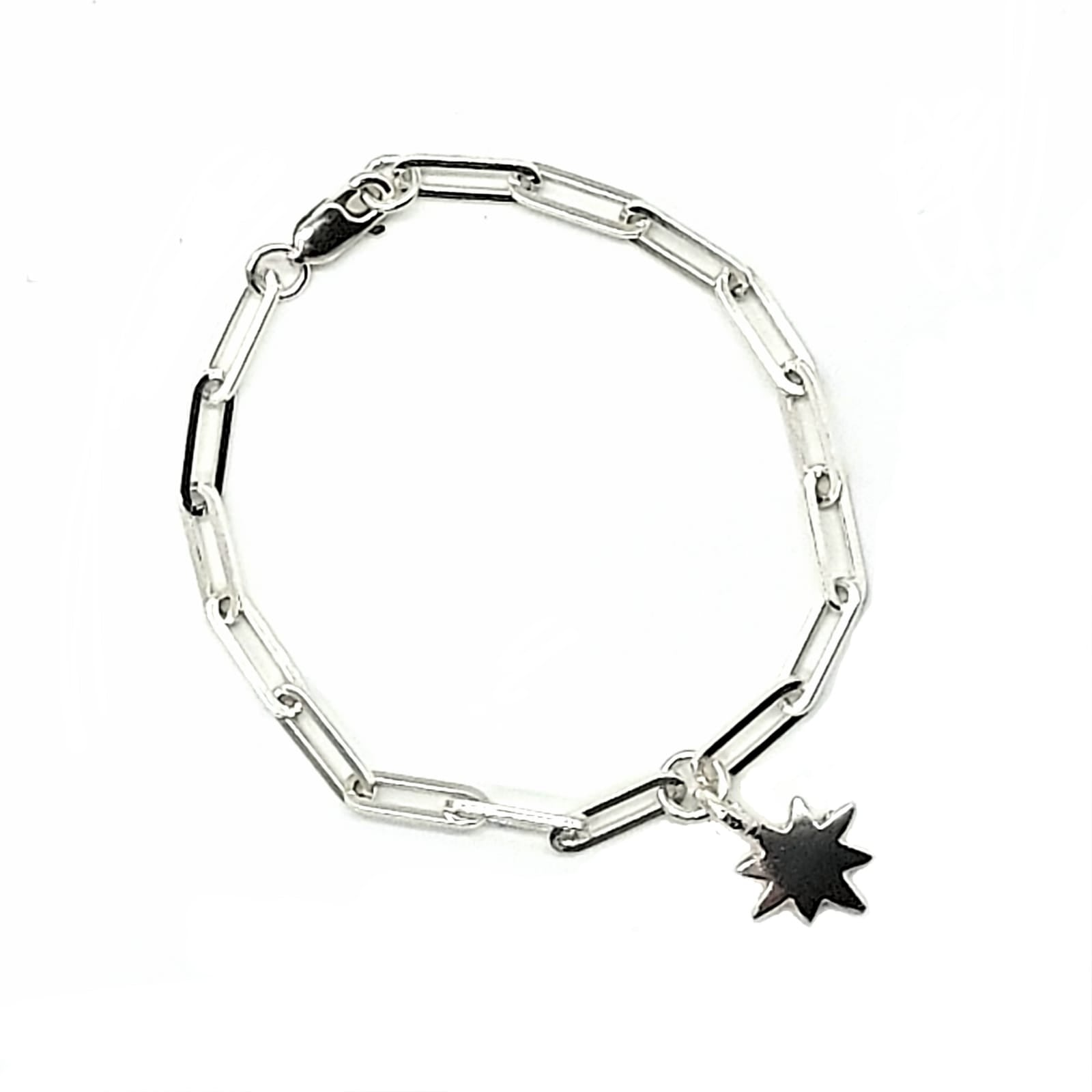 Belle & Bee silver Baby North Star trace chain bracelet