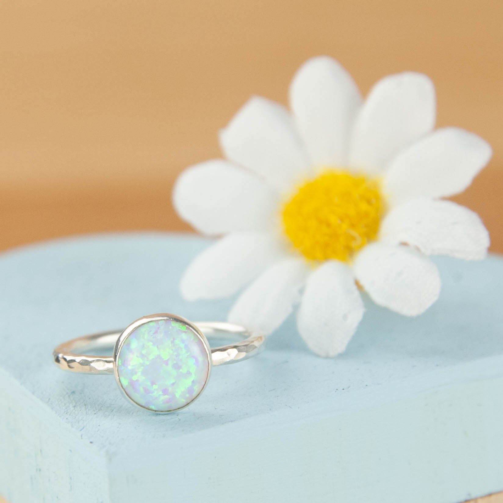 Belle & Bee Opal Stacking Ring
