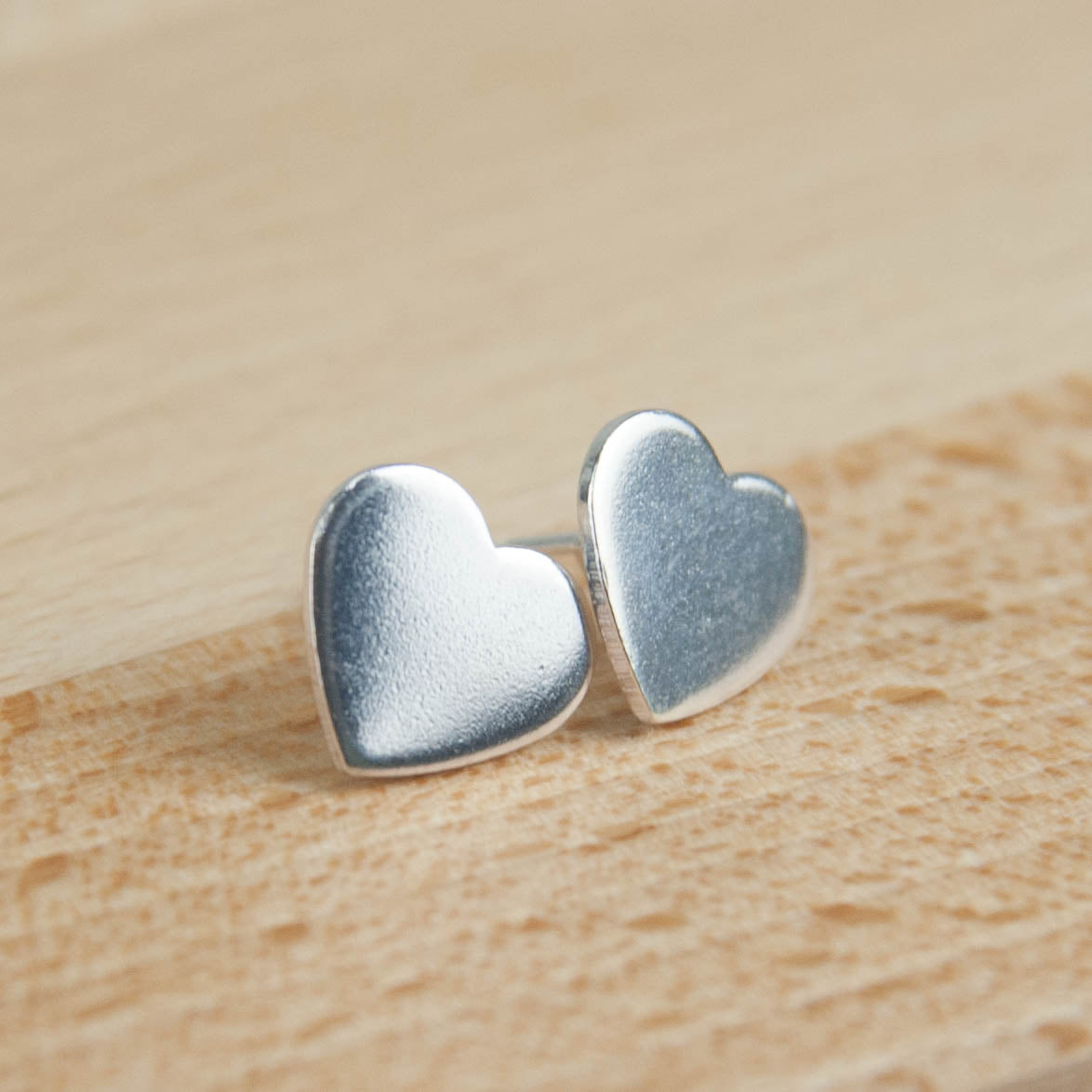 Belle & Bee sterling silver heart earrings