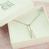 Belle & Bee Personalised Drop Tag Necklace