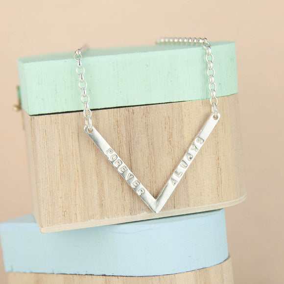 Personalised Chevron Necklace
