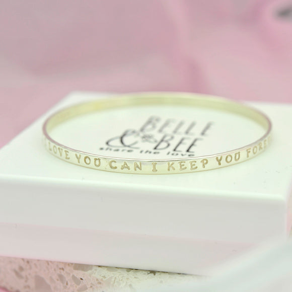 Sterling silver message bangle