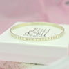 Belle & Bee Sterling silver message bangle