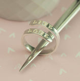 Belle & Bee Personalised Sterling Silver Wrap Ring
