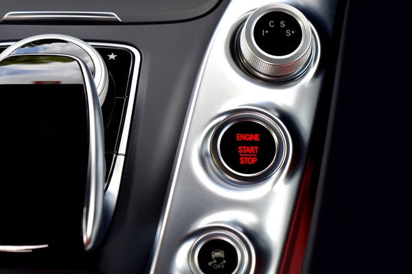 start button of luxury car eve and elle