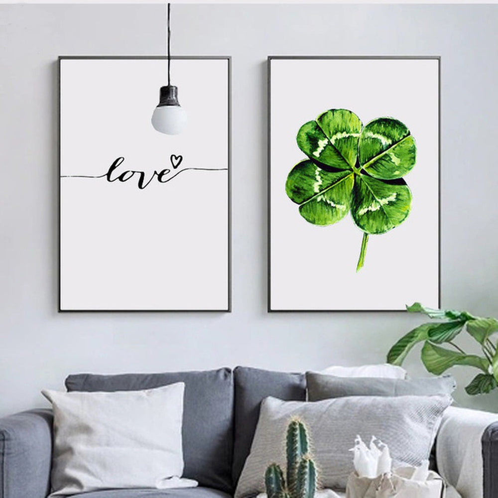 Love and Clover Poster Prints, Interior Decor - Eve and Elle