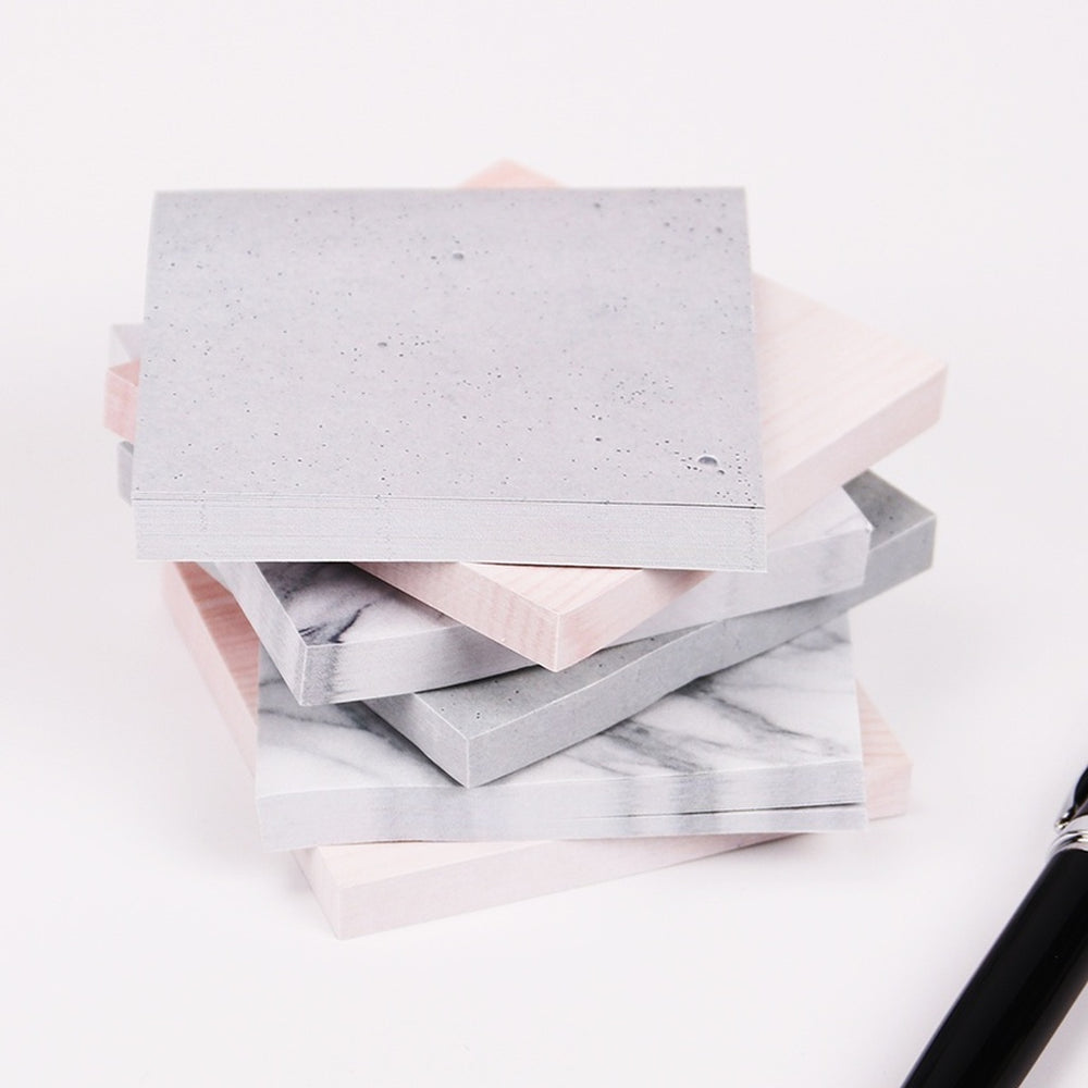 Marble sticky note memo pad, Office Supplies - Eve and Elle