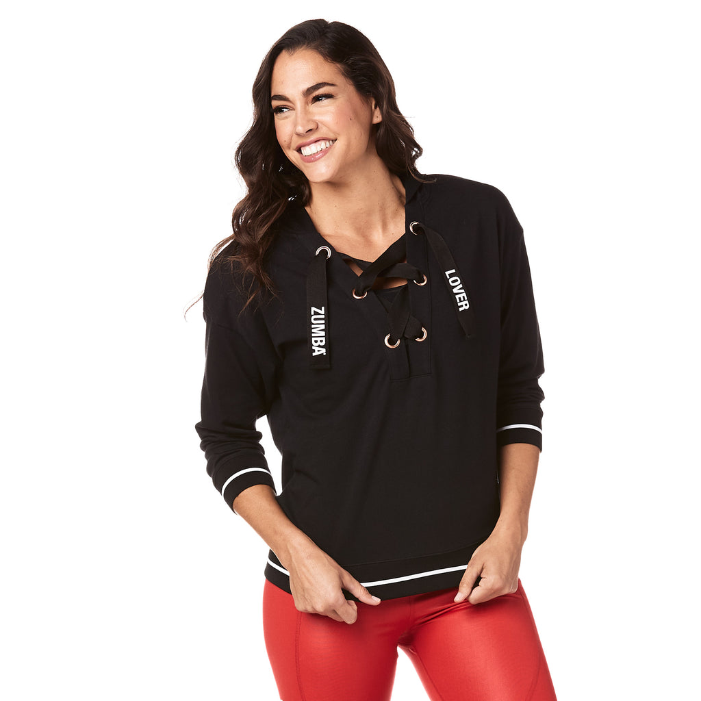 Zumba Lover Laced Up Sweatshirt