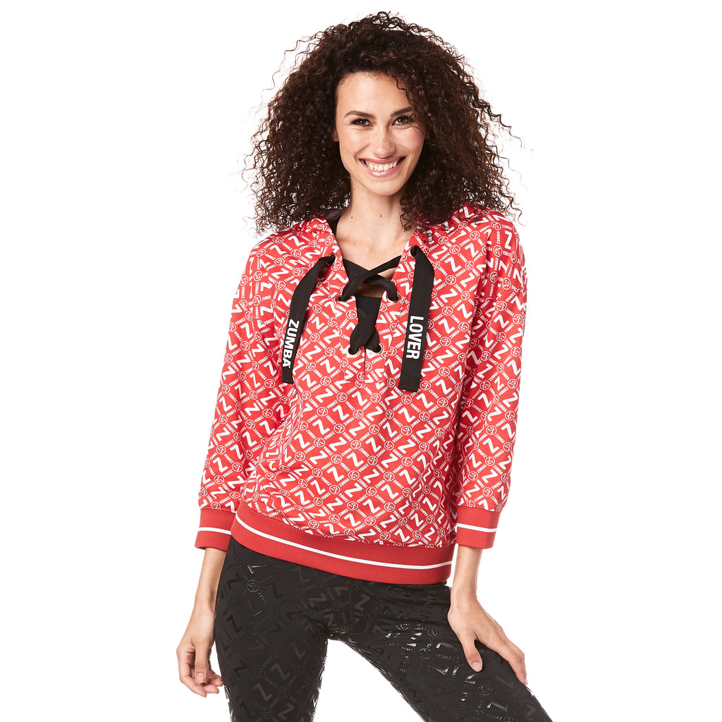 Made With Zumba Love Laced Up Sweatshirt