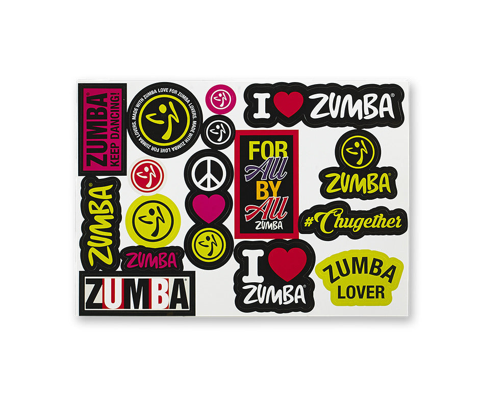 I Love Zumba Stickers 10 PK