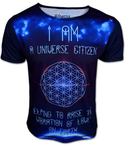 ÆTHERNA ♥ Universe Citizen Flower of Life T-Shirt (AETHERNA)