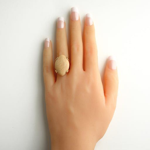 Mari Oval Ring in Amazonite