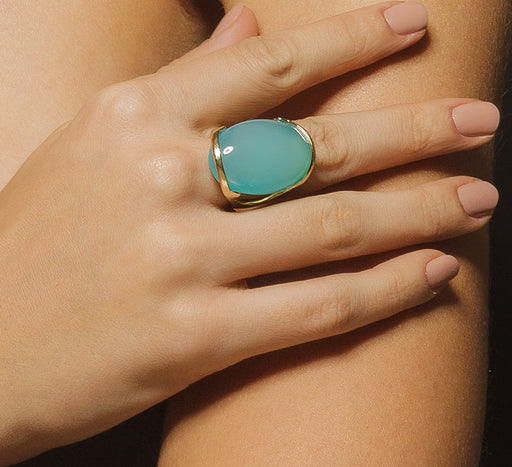 Igapo Ring In Bright Blue Agate
