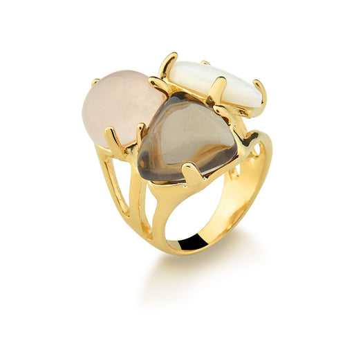 Salgueiro Statement Ring Set in Amber Mix