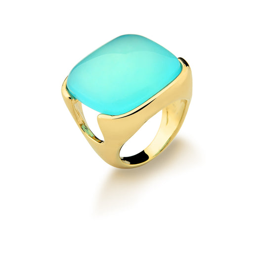 Potengi Statement Ring in Bold Blue Agate