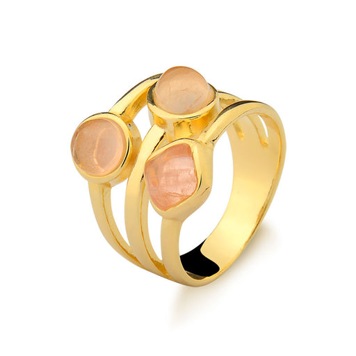 Lumiar Sparkling Gold Ring in Rose Quartz