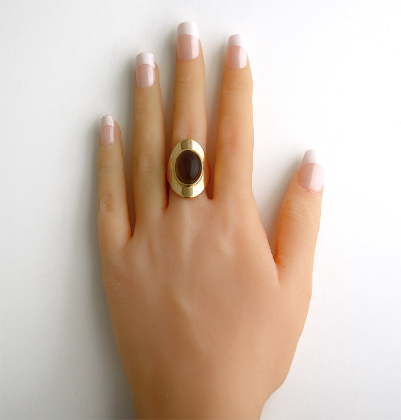 Atins Gold Ring in Bold Obsidian