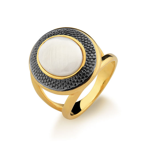 Carajas Mother of Pearl Gold Ring